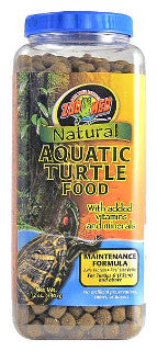 Zoo Med Natural Aquatic Turtle Food Maintenance Food; available in 3 sizes