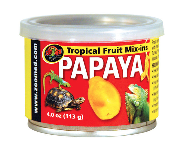 Zoo Med Tropical Fruit Mix Ins; available in different flavours-Food-Zoo Med-Papaya-Petland Canada