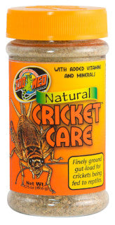 Zoo Med Natural Cricket Care; available in 2 sizes.