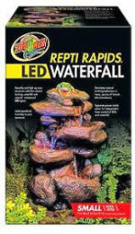 Zoo Med Reptirapids LED Waterfall Rock; available in different sizes