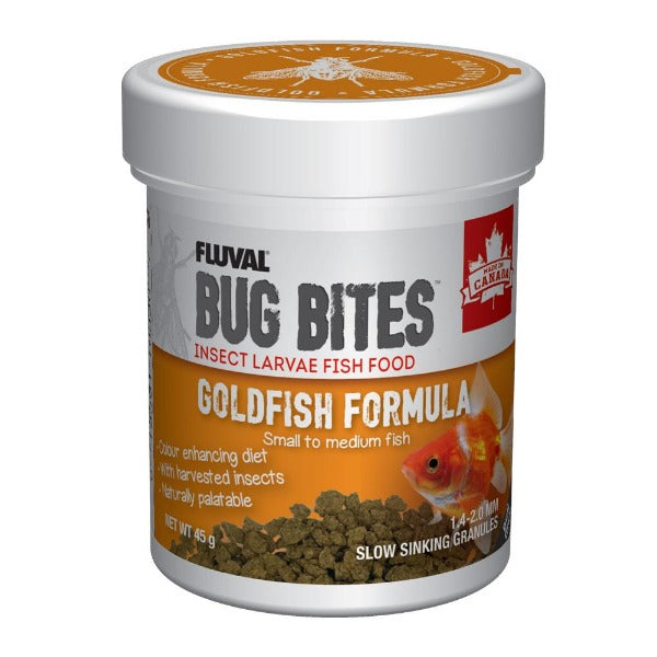 FLUVAL Bug Bites Goldfish Formula Slow Sinking Granules (small to medium fish) 45G