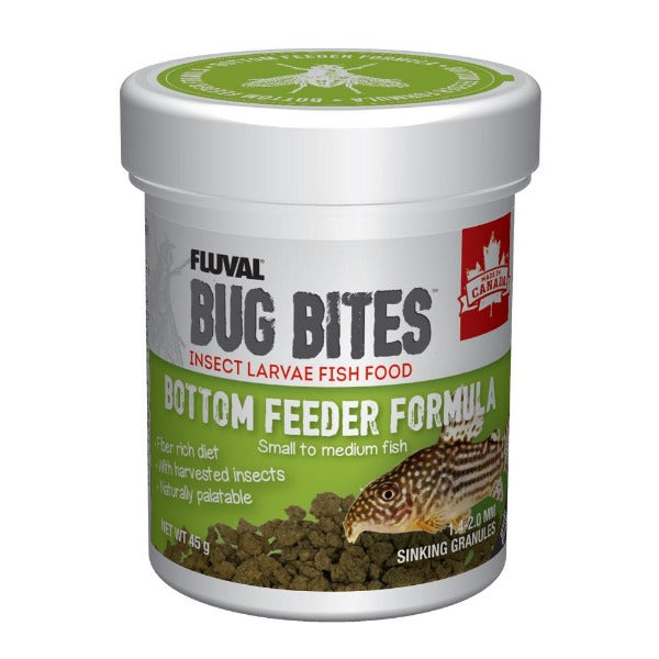 FLUVAL Bug Bites Bottom Feeder Formula Sinking Granules (small to medium fish) 45G
