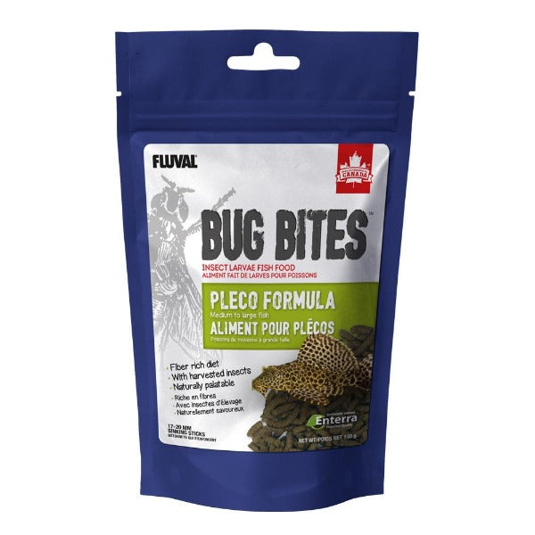 FLUVAL Bug Bites Pleco Formula Sinking Sticks (medium to large fish) 130G