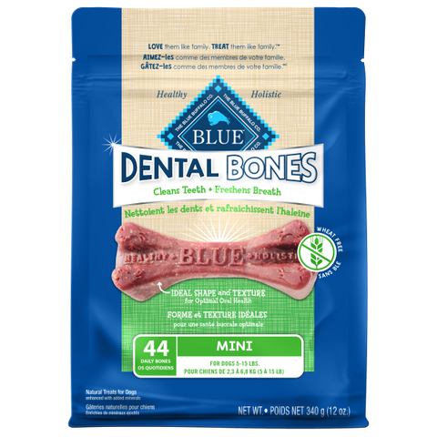 Blue Buffalo Dental Bones; Available in 4 sizes