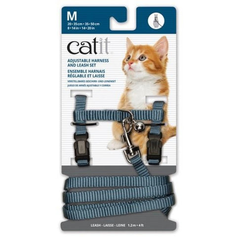 Catit Adjustable Harness and Leash Set; Available in 4 different sizes and colours-Collars & Leashes-Catit-Blue-Medium-Petland Canada