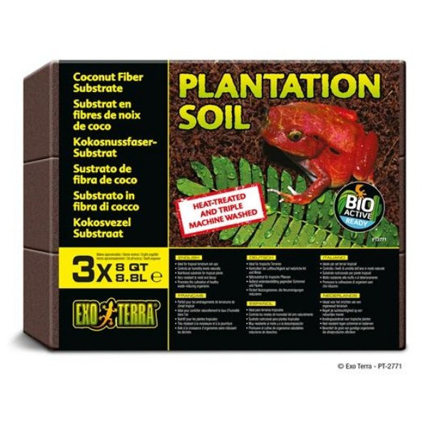 Exo Terra Plantation Soil Bricks; Available in 2 sizes-Substrate & Liners-Exo Terra-3 Pack-Petland Canada