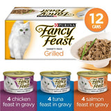 Fancy Feast Grilled in Gravy Canned Cat Food Variety Pack (12 x 85g)