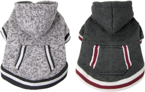 FouFou Dog Heritage Knit Hoody; availble in two colours