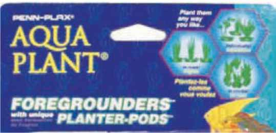 Penn Plax Foreground Plastic Plant; available in different styles-Decor-Penn Plax Aqua Plant-Petland Canada