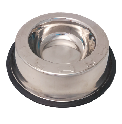 Wide Rim Paw & Bone Non Tip Anti Skid Bowl-Bowls & Feeders-Kumar-Petland Canada