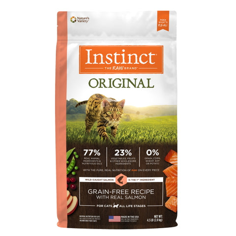Nature's Variety Instinct Original Grain-Free Recipe with Real Salmon Cat Food, 4.5 lbs