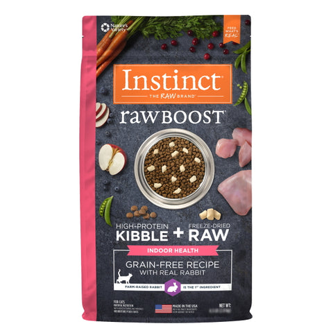 Nature's Variety Instinct Raw Boost Grain-Free Recipe with Real Rabbit for Indoor Health Cat Food, 4.5 lbs