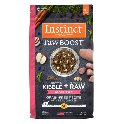 Nature's Variety Instinct Raw Boost Grain-Free Recipe with Real Chicken for Indoor Health Cat Food, 5 lbs
