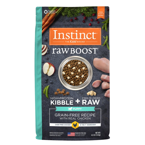 Nature's Variety Instinct Raw Boost Grain-Free Recipe with Real Chicken for Puppies, 4 lbs-Food Center-Nature's Variety-Petland Canada