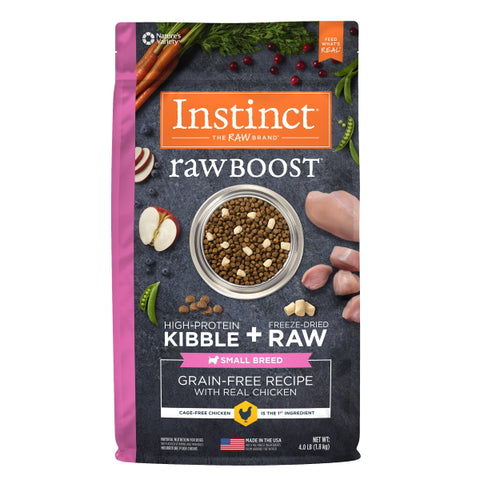 Nature's Variety Instinct Raw Boost Grain-Free Recipe with Real Chicken for Small Breed Dogs, 4 lbs-Food Center-Nature's Variety-Petland Canada