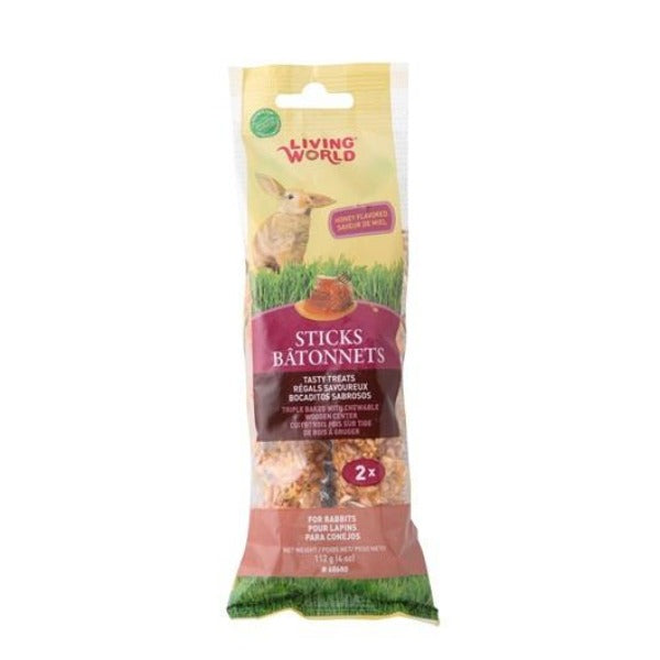 Living World Treat Sticks for Rabbits; available in 3 flavours-Treats & Sticks-Hagen-Honey-Petland Canada