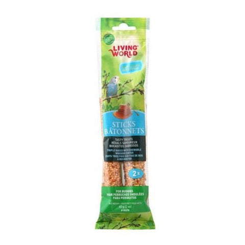 Living World Parakeet Treat Sticks; Available in different flavours