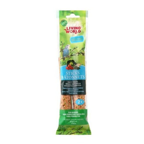 Living World Vegetable Flavored Parakeet Treat Sticks (2 oz.)