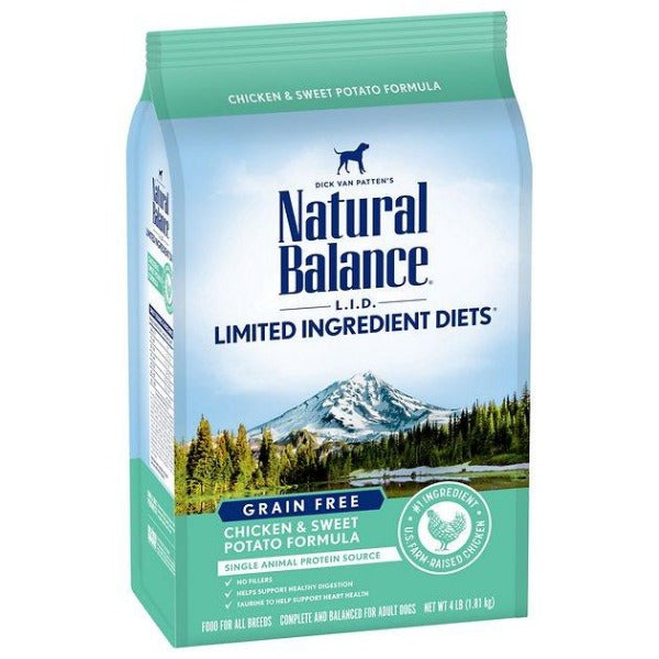 Natural Balance L.I.D. Chicken & Sweet Potato Dry Dog Formula; Available in 2 sizes