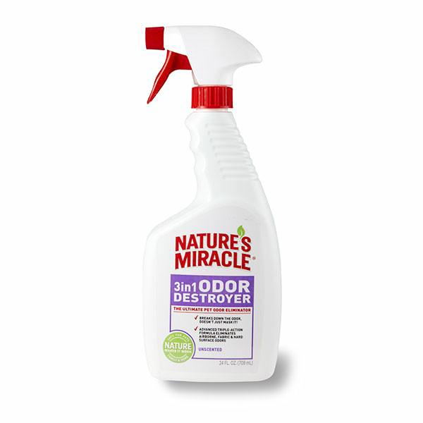 Nature's Miracle 3 in 1 Odor Destroyer; Available in 2 styles-Training & Behavior-Nature's Miracle-Unscented-Petland Canada