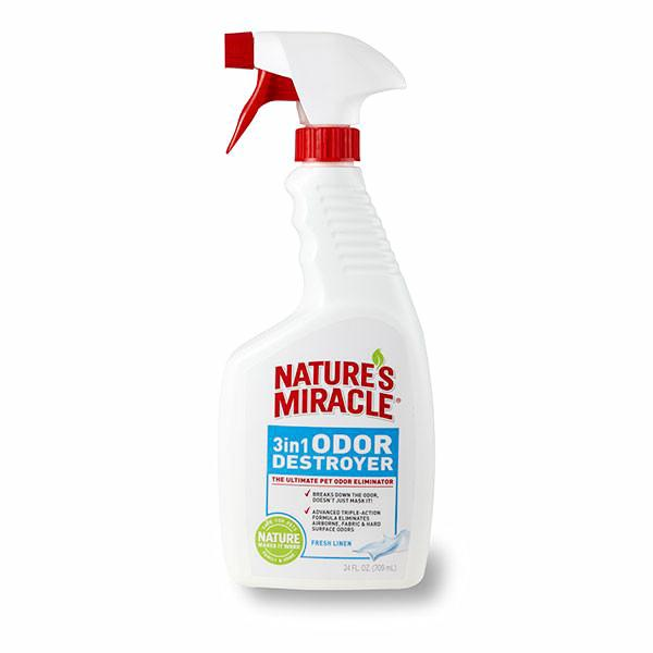 Nature's Miracle 3 in 1 Odor Destroyer; Available in 2 styles-Training & Behavior-Nature's Miracle-Linen Scent-Petland Canada