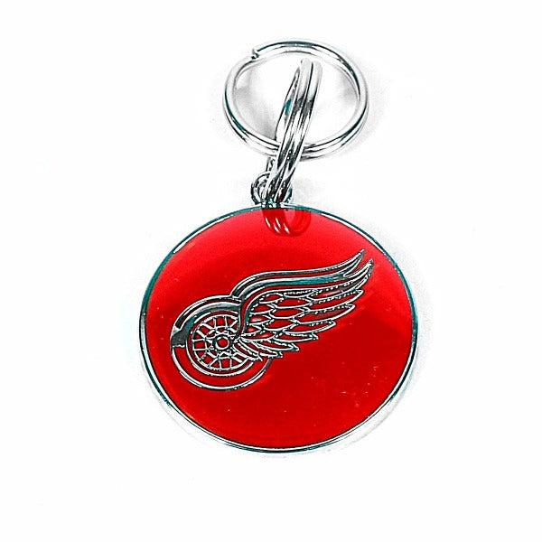 Custom engraved NHL Pet Tag, Detroit Red Wings