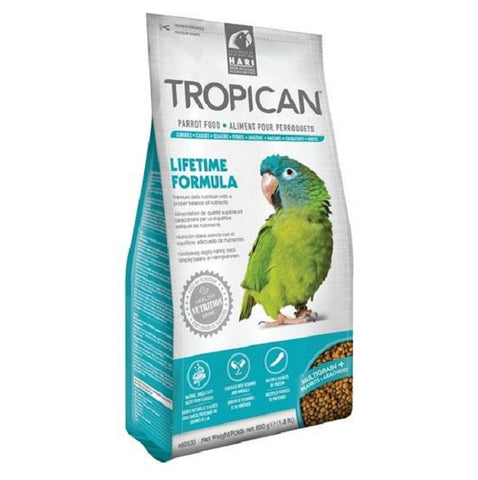 Tropican Lifetime Formula Granules for Parrots-Food-Tropican-820 g-Petland Canada