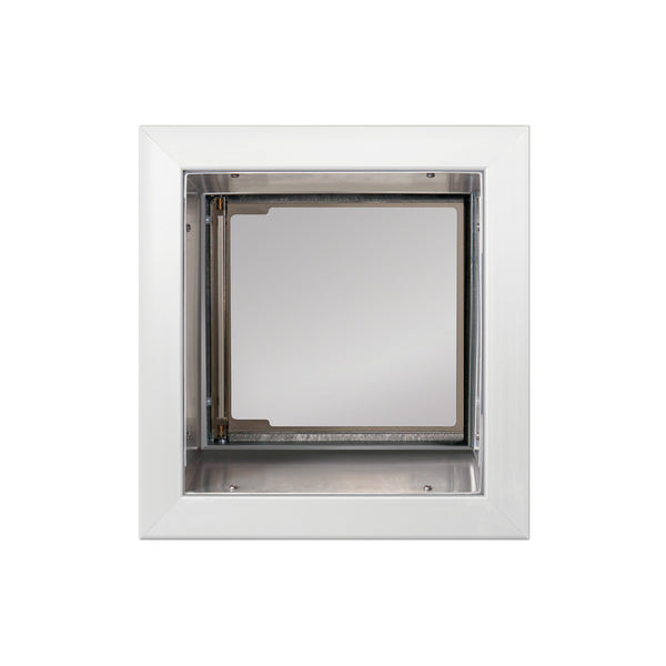 Small White PlexiDor Wall Mount Performance Pet Doors
