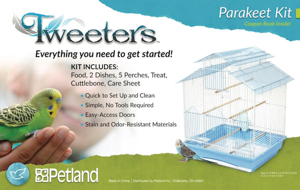 Tweeters Parakeet Kit-Cages & Stands-Tweeters-Petland Canada