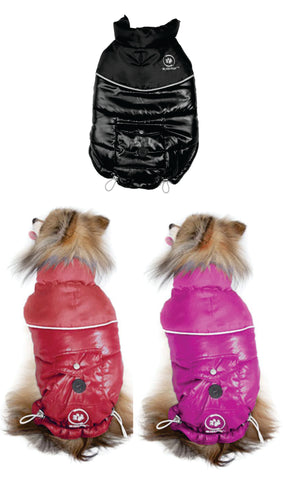 Silver Paw Stylist Winter Jacket; available in different colours & sizes.