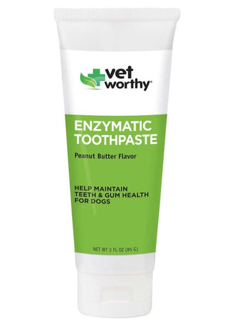 Vet Worthy Peanut Butter Flavour Enzymatic Toothpaste-Health Care-Vet Worthy-Petland Canada