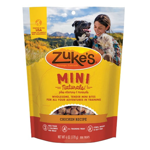 Zuke's Mini Naturals Chicken Recipe Dog Treats; Available in 2 Sizes
