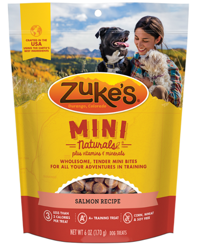 Zuke's Mini Naturals Salmon Recipe Dog Treats; available in 2 Sizes