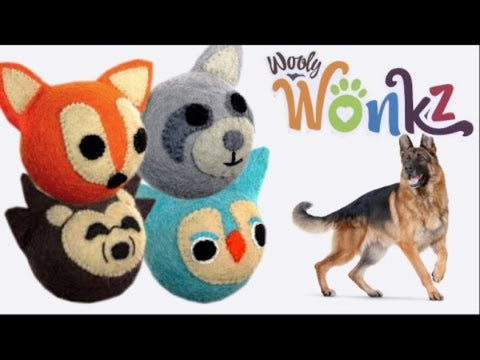 Wooly Wonkz Woodland Dog Toys; Available in several styles