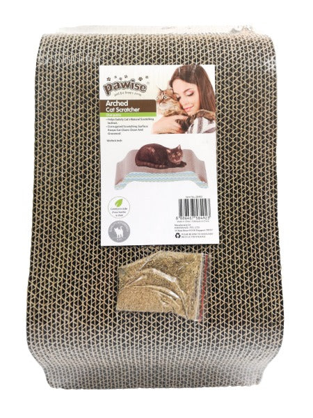 Pawise Cardboard Cat Scratchers; Available in Different Styles-Furniture & Scratchers-Pawise-Arched-Petland Canada