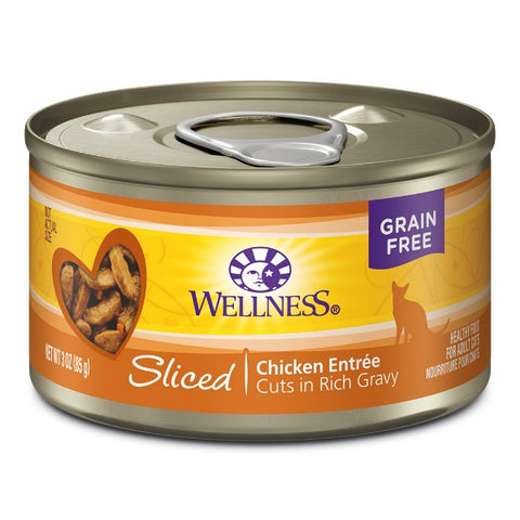 Wellness Chicken Entrée Sliced in Gravy Cat Canned Food (3 OZ.)