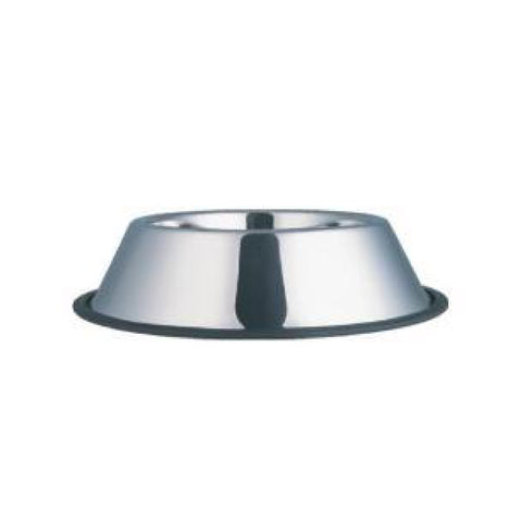 Anti-Skid Stainless Steel Steel Dog Bowl-Bowls & Feeders-Kumar-Petland Canada