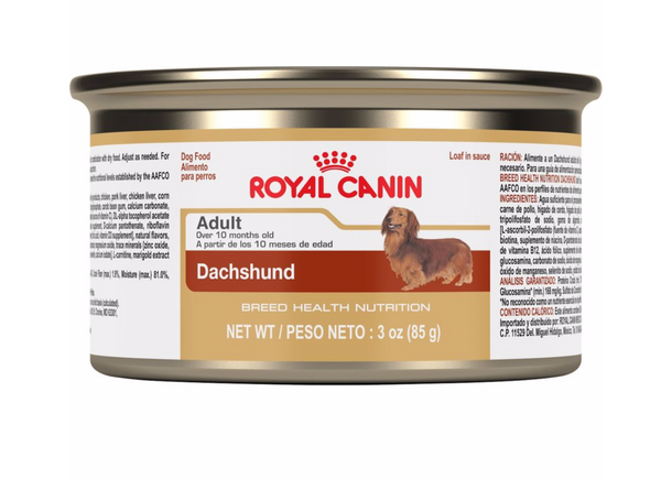 Royal Canin Breed Specific Canned Dog Food; Available in 4 styles-Food Center-Royal Canin-Dachshund-Petland Canada