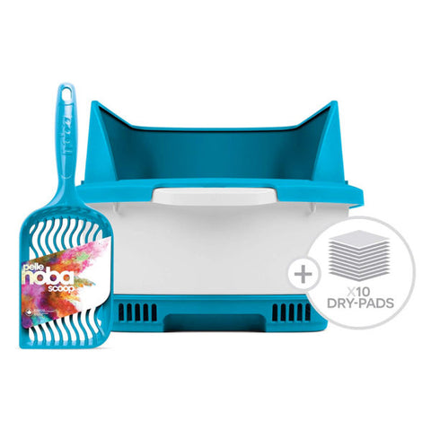 Cateco Litter Box Kit; Available in Grey and Blue
