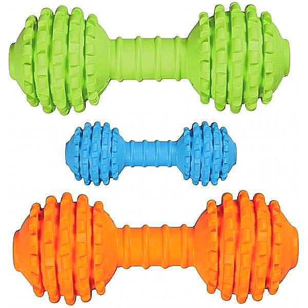 JW Pet Chompion Rubber Dog Toy; available in 2 sizes