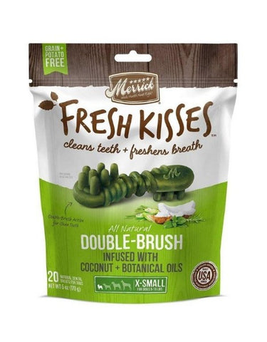 Merrick Fresh Kisses Coconut + Botanical Oils Dental Chew; Available in 4 Sizes