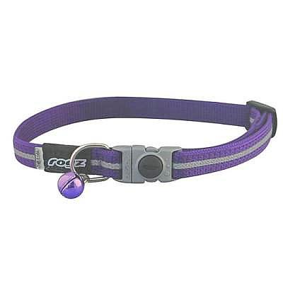 Purple Rogz Alley Cat Breakaway Collar