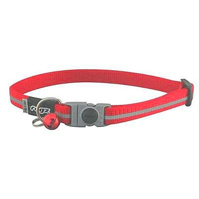 Red Rogz Alley Cat Breakaway Collar