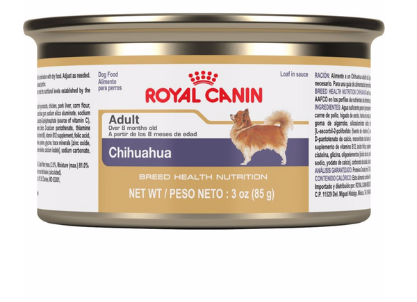 Royal Canin Breed Specific Canned Dog Food; Available in 4 styles-Food Center-Royal Canin-Chihuahua-Petland Canada