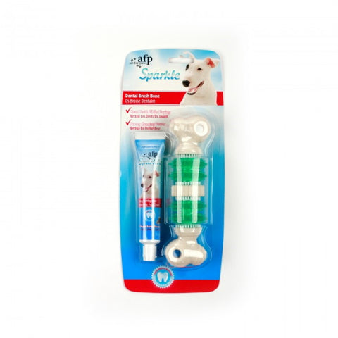 AFP Sparkle Self Brushing Bone with Peanut Butter Toothpaste-Health Care-All For Paws-Petland Canada