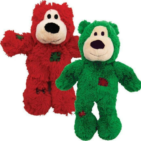 KONG Holiday Wild Knots Bear Dog Toy Assorted; Available in 2 Sizes