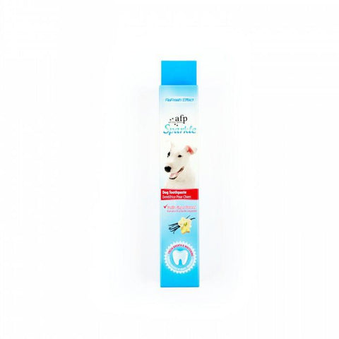 AFP Sparkle; Dog toothpaste; Available in 2 flavors