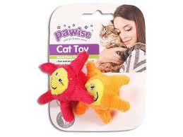 Pawise Bouncing Ball Cat Toy; available in 2 styles-Toys-Pawise-Star 2pk-Petland Canada