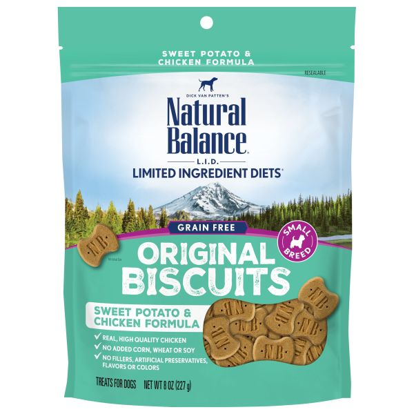 Natural Balance L.I.D. Sweet Potato & Chicken Small Breed Dog Treats (8 oz.)