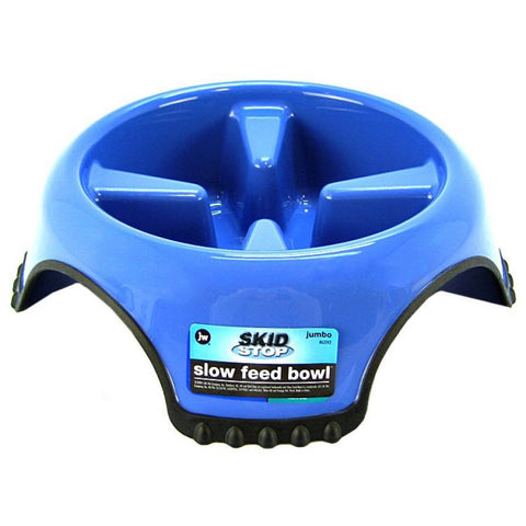 JW Pet Skidstop Slow Feed Bowl; Available in 3 sizes